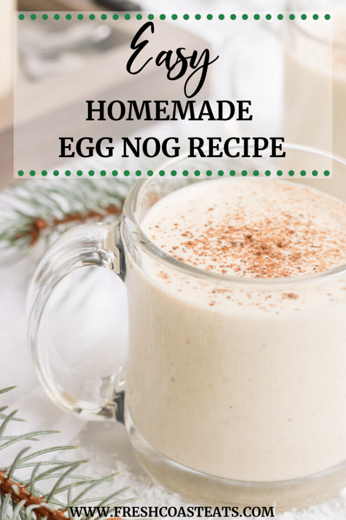 Pinterest Image of homemade egg nog