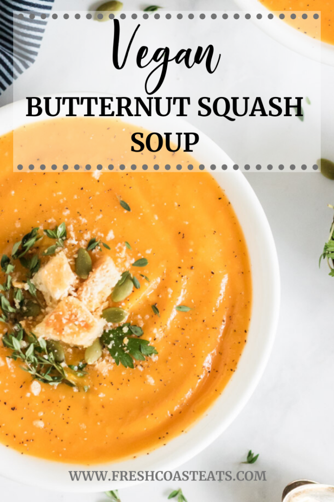Pinterest image for Vegan Butternut Squash Soup