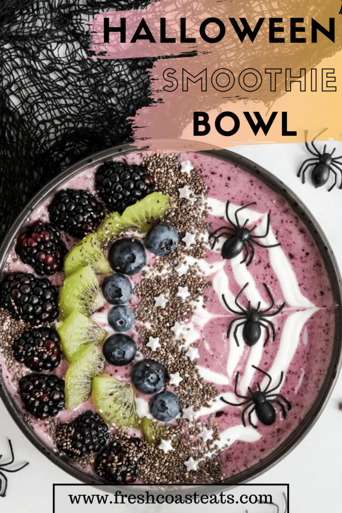 Pinterest Image for Halloween Smoothie Bowl