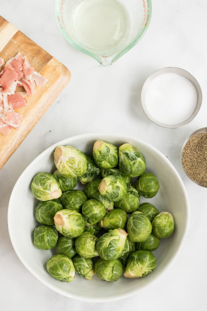 Ingredients for Keto Brussel Sprouts