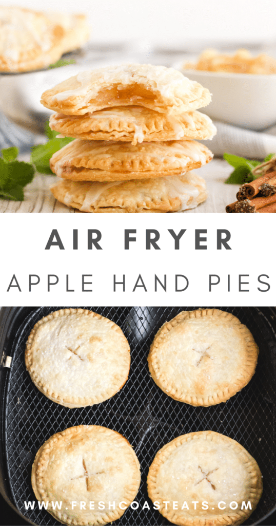 Pinterest Image for Air Fryer Apple Mini Pies