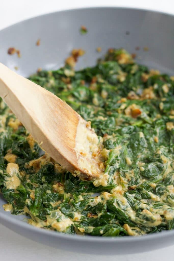 spinach filling for pork wellington