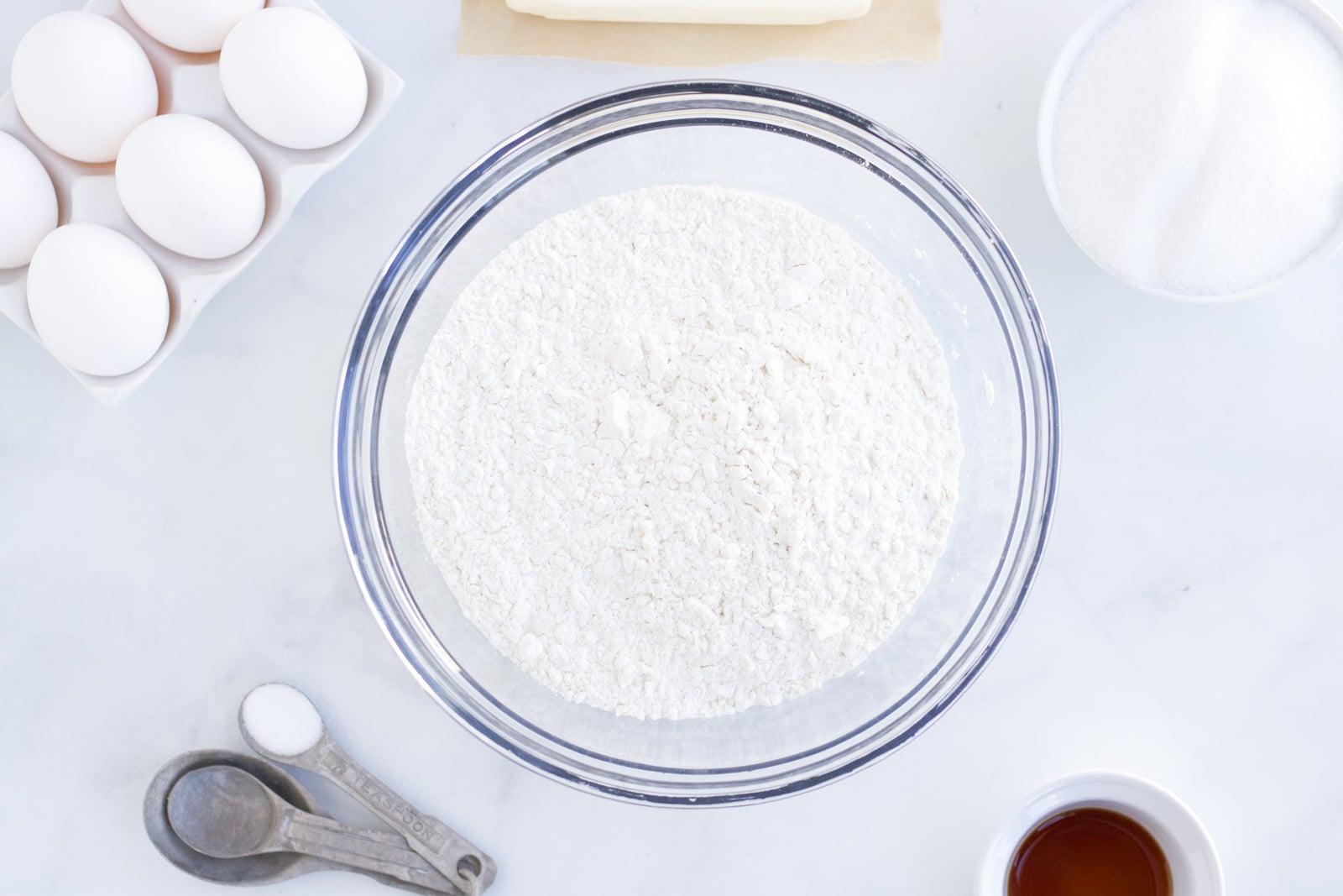 ingredients for valentines cookies